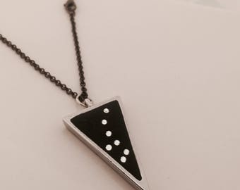 Little Dipper Necklace (Ursa Minor necklace) Constellation, Triangle, Trine, Stars, Crystal, Black  Lucky Star Dreams gifts