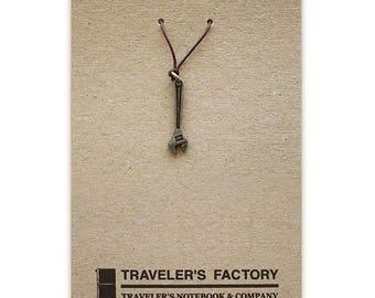 Traveler's Factory TF Charm Wrench ,hammer pattern  Traveler's Notebook  Midori Designphil Material Tin Free Shipping
