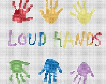 Loud Hands - Autism Acceptance Cross Stitch
