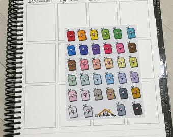 34 Travelers Notebook Planner Stickers / TN Planner Icon Stickers