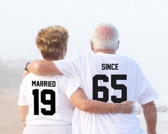 Couple tshirt couple tees married since shirts couple tshirts  funny matching couple shirts wedding gift anniversary gift couple tshirts