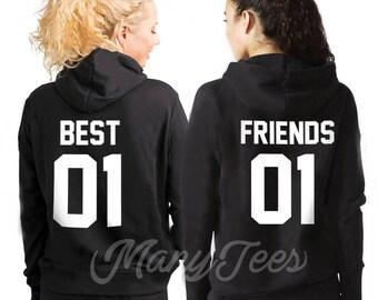 Best friends hoodies bff hoodies bff outfits bff gifts best friend gift best friend birthday gift friends hoodie friends since pullover