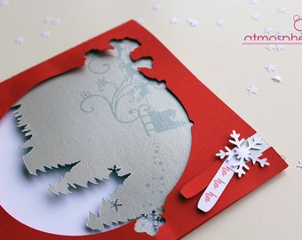 Greeting card - Christmas, new year holiday season