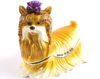 Yorkshire Terrier Dog Jewelry Box