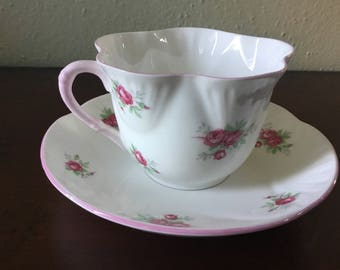 Royal York Sweetheart Rose Teacup with Saucer