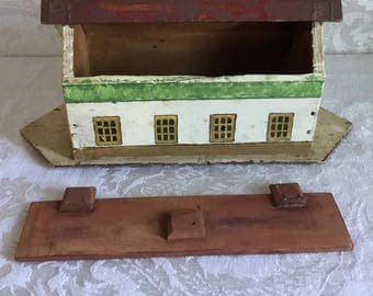 Small Antique Noah's Ark with Animals