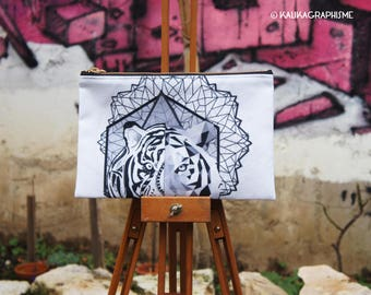 Tiger Pocket geometric Mandala