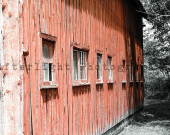 Red Country Barn, Rustic Photography, Photograph, Photography, Old Barn Photography,