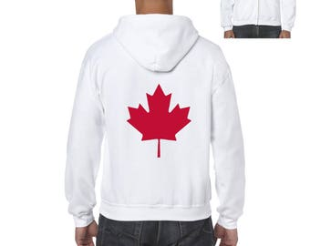 Canada Toronto Maple Leafs Proud Canadian Vancouver Guide Map Flag Gift Full-Zip Men's Hoodie