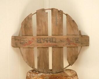 Vintage bushel basket  lid- Vintage bushel Basket lid, Orchard Basket lid