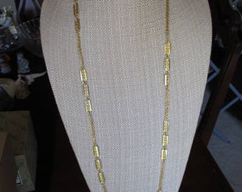 Vintage Gold Tone Chain Link Necklace - 38 1/2""