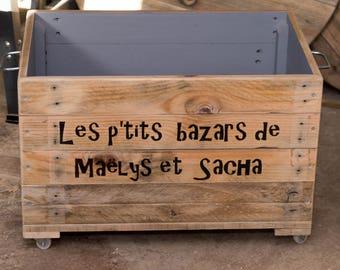 60 x 40 in pallet wood storage box