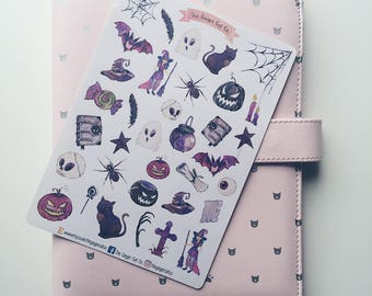 Halloween Witch Planner Stickers | bujo stickers, bullet journal, scrapbook stickers, witch stickers