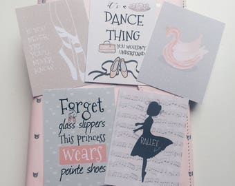 Ballet Love Journal Cards Set 1