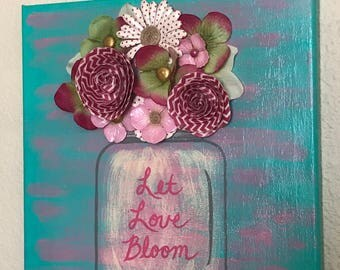 Let Love Bloom 3D wall decor