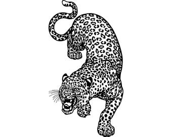 Cheetah #1 Leopard Jaguar Wild Cat Spots Wildlife Wild Animal Zoo Mascot Logo .SVG .EPS .PNG Digital Clipart Vector Cricut Cut Cutting File