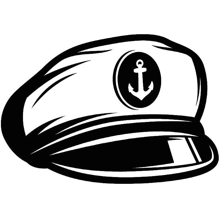 Captain Hat 3 Naval Navy Ship Boat Cap Uniform Clothes Outfit Captain Hat Vector