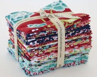 Riley Blake Designs La Vie Boheme 21 cotton fat quarter bundle, designed by the Quilted Fish, metallic  fabric