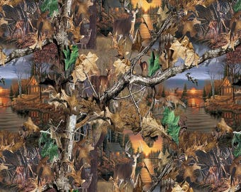 Realtree Lakeside Sunset Allover print  Pattern #10165 by Print Concepts