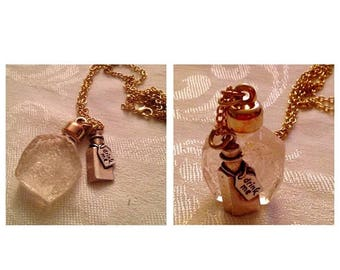 Anniversary Sale Alice in Wonderland Inspired Drink Me Necklace