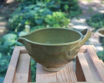 Green Speckled Batter Bowl
