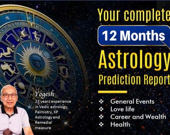 12 month Astrology Reading Personalized  horoscope based on your birth chart. unique gift for horoscope believer