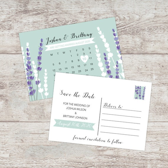 Save the date cards, Rustic save the date postcards, Wedding save the date cards, Lavender save the dates invites, Save our date cards, A6