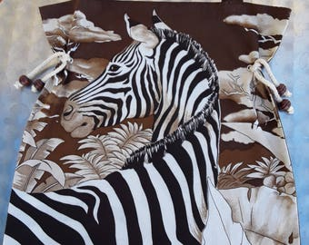 In the Savannah / Zebra / Zebra tote bag / tote bag/purse / hobby bag / shopper / school, shopping, books