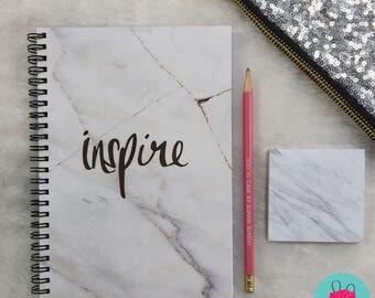 Marble notebook, Notebook, A5 notebook, to do list, planner, marble planner, marble journal, notepad, A5 journal, marble notepad, marble