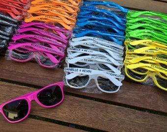 60 ADULT Personalized Sunglasses, Custom Wedding Favor, Bachelor Party Favor, Bachelorette Party, Bulk Sunglasses, Vacation Shades
