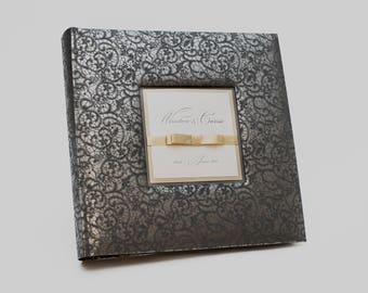 Large photo album, Black album, Black photo album, wedding, Personalized Black album, black pages, large wedding album, album black pages