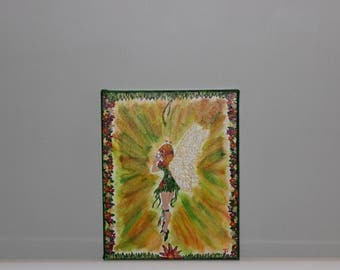 table handpainted forest fairy