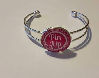 Bracelet silver Cabochon 25 minutes pinup