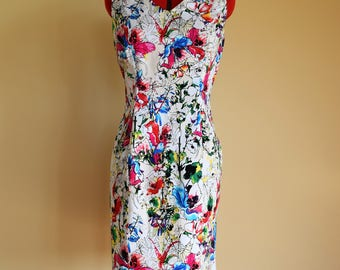 Pretty Floral Dress / Pencil Dress / Shift Dress