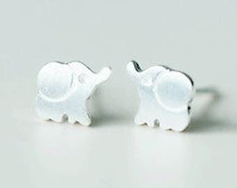 Sterling Silver elephant earrings   stud earrings   animal earrings   elephant jewelry   elephant studs   elephant jewellery   post earrings