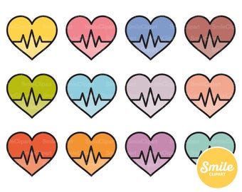 Heartbeat Clipart Illustration for Commercial Use   0495