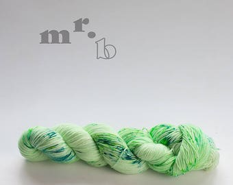 The prime of lime; hand-dyed sock yarn