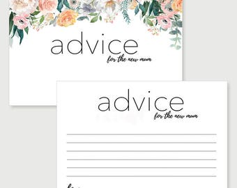 Dusk Advice for the new mum Cards | Baby Shower Game | Party Supply