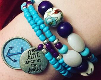 Love Anchors The Soul Bracelet