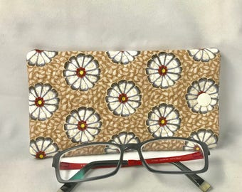 Glasses case mobile phone case embroidered fabric