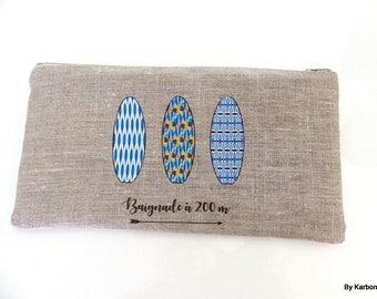 turquoise blue linen dress handkerchief