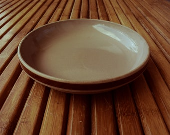 GIEN glazed stoneware plate - Made in France - pottery -
