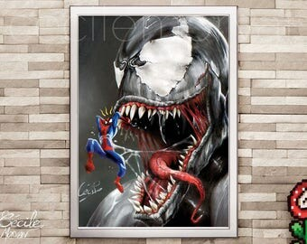 Limited edition poster Spiderman vs Venom