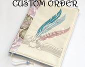 Feathers Fabric Book Case, Bible Cover