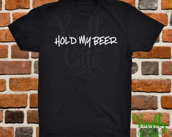 Hold My Beer - Men's Edition - New Item!!  Men's Shirt - Black