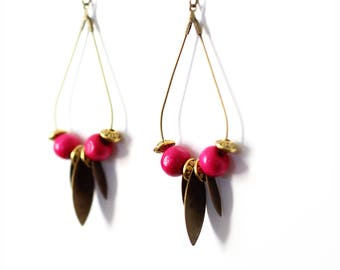 Bird long earrings