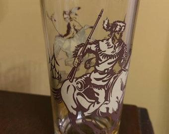 Vintage Davy Crockett Glass