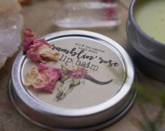 RAMBLIN ROSE All natural lip balm.