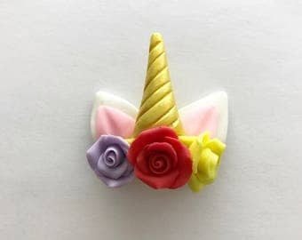 Polymer clay unicorn horn