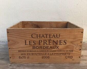 French Original Wine Crate Bottle Les Prenes BORDEAUX 22031819